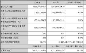 四川双马2019年年报:净利润728,684,384.66元,同比增长4.75%
